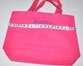 Gymnastics Tote Bag with Monogram Name Embroidered on it, Personalized Bag, Swin Bag, Daycare Bag, Toy Bag, Easter Basket Bag