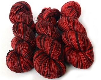 Superwash Merino Single Ply Sock Yarn- Kettle Dyed - 115g