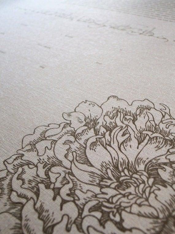 Bookcloth Ketubah Print by Jennifer Raichman - Peony Corner