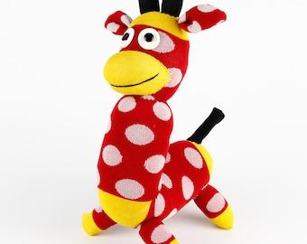Free Shipping Handmade Sock Monkey Giraffe Stuffed Animal Doll Baby Toys