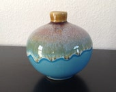 Studio Drip Vase Glazed Blue Brown Green