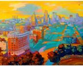 Safety of the Sunset - Kansas City Skyline - Print