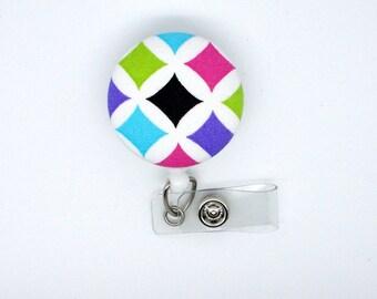 Rainbow Diamond II - Cute ID Badge Reel - Nurse Badge Holder - Nursing Badge Reel - RN Badge Clip - Teacher Badge - Nurse