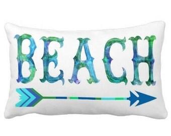 Pillow Cover Watercolor Beach Arrow