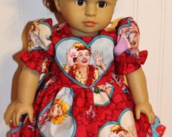 LUCY'S ADVENTURES Dress and Hair Tie fits 18inch Dolls - Proudly Made in America Doll Clothes