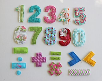Number Magnets, Learning Toys, Math Symbols, Toddler Learning, Magnetic Numbers, Refrigerator Magnets, Fabric Numbers,