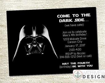 Star Wars Inspired Birthday Invite // diy printable invitation