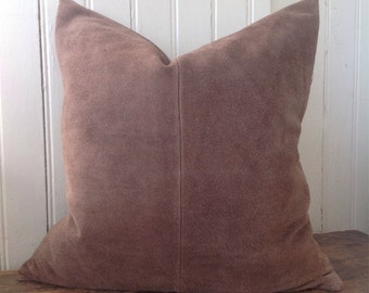 Upcycled Leather Pillow Cover No. 5
