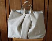 Soft large sand color fabric hobo bag