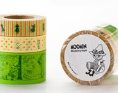 The Moomin Series Japanese Masking Tape Set of 3 (Snufkin) for scrapbooking, party deco, gift wrapping, card making