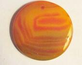 Orange agate gemstone pendant 47mm