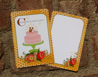 Congratulations Wedding Card set of 4