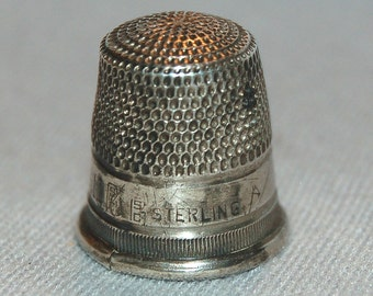 Vintage / Antique / Goldsmith, Stern & Co. / Sterling / Silver / Thimble / Sewing / Tool / Handwork / 10
