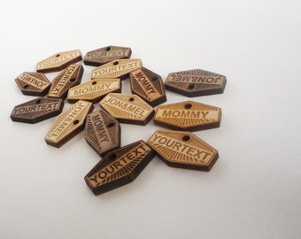 Personalized Mini Tags (For knit or jewelry products, weddings, charms, etc)