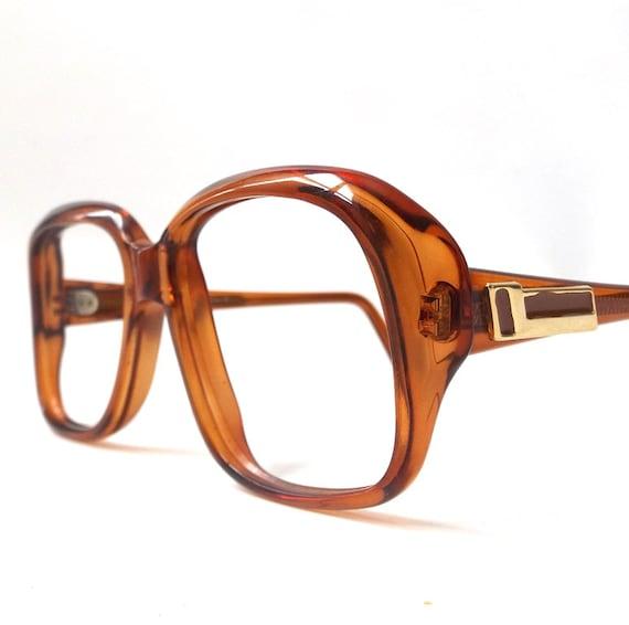 vintage 1960s eyeglasses prescription brown plastic