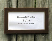 6X12 Picture Frame Distressed Wedding Frame Wood Frame Antiqued Brown Cottage Chic Primitive