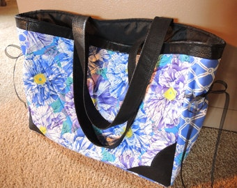 Bags and Purses, Flower Tote, 2 Piece Set, Handmade