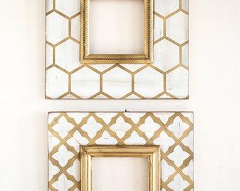 Metallic 8X8 2-Frame Gold Frame Set