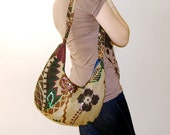 Green Womens Shoulder bag / Zipper Tote bag / Purse / Handbag / Women /Gift For her