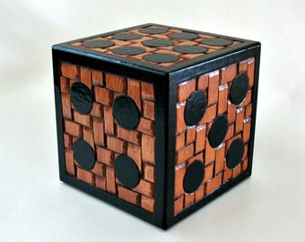 Large Wooden Dice, Giant Dice, Gamer Gift, Jumbo Dice Decor, Hand Carved Wood