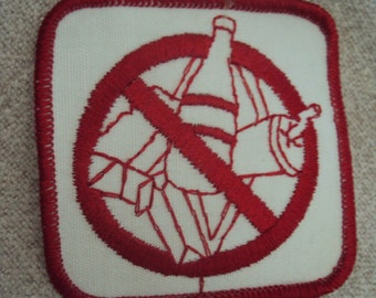 Vintage 1980s Do Not Litter Iron On Sew On Patch