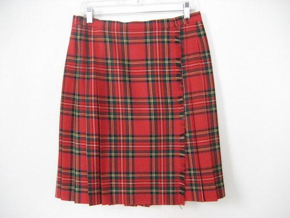 Skirt Wool Kilt Royal Stewart Plaid Tartan By