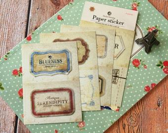 07 BLUENESS Dailylike Stick & Sewing paper stickers