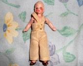 3 1/2 inch GERMAN Bisque Strung Doll