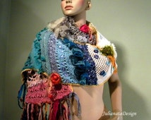 BOHO-CHIC SCARF - Signature Garment, Wearable Fiber Art, Extra Long, Unsurpassed Quality Yarns