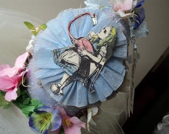 Alice in Wonderland glittered Easter Egg