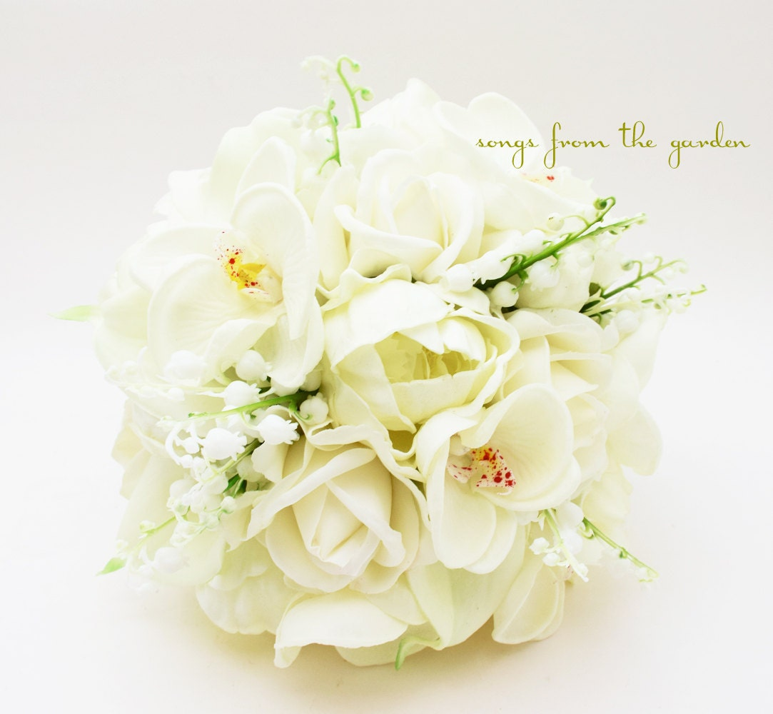 Lily Of The Valley Bouquet: Real Touch Bouquet Lily Of The Valley By SongsFromTheGarden