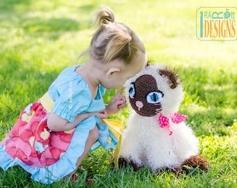 CROCHET PATTERN Yin & Yang Siamese Kitty Amigurumi Toy Crochet Pattern PDF