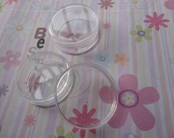 20pcs small clear plastic box--round shape plastic box--50x20mm