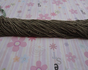 50pcs 2.4mm 30 inch bronze color ball necklace chain with matching connector