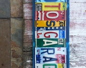 MAN CAVE Gift  - GARAGE - 10 year wedding tin aluminum anniversary gift for men man dad husband father - License Plate Sign Name Word