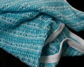 Swaddling Baby Blanket Light Turquoise Receiving Blanket Aqua Blue Smocked Super Soft Stretchy Infant Baby Blanket