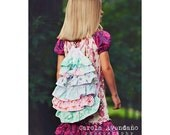 Ruffle Drawstring Backpack Pattern, Bag Sewing Pattern, Backpack Sewing Pattern, Drawstring Bag Pattern, Easy Sewing Pattern