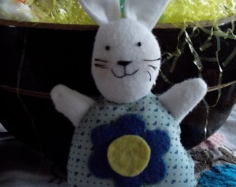 Cheerful Felt White  Easter Bunny