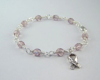 Lavender Awareness Bracelet