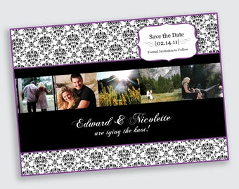 Photo Strip Save the Date Announcement - Card Stock or Magnet - DEPOSIT