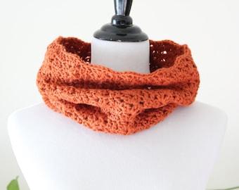 Crocheted Pumpkin Cowl Neckwarmer