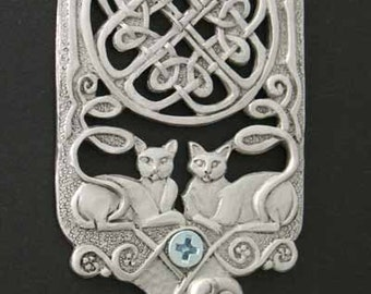 Celtic Cats Wall Hook