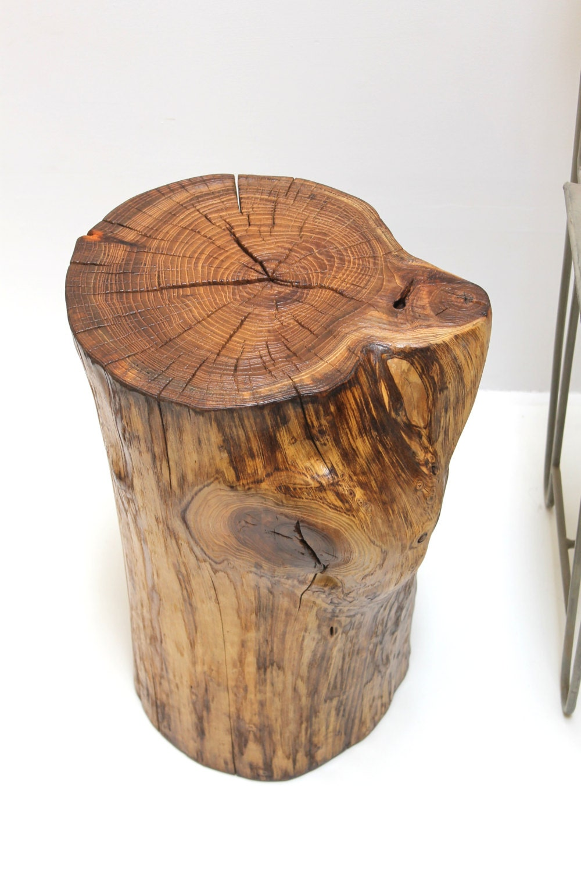 tree trunk end table. Black Bedroom Furniture Sets. Home Design Ideas