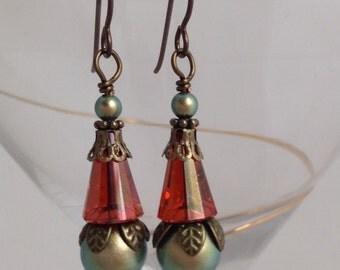 Victorian style Swarovski Earrings