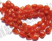 Carnelian Smooth Nuggets (Quality BC) / 36 cm / 84 to 86 Grms. / 15 to 20 mm / BOG-044
