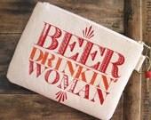 Beer Drinkin Woman Clutch Purse Made in Nashville Graduation Gift Redneck Wedding Rockabilly Country Music Bar Wholesale Etsy