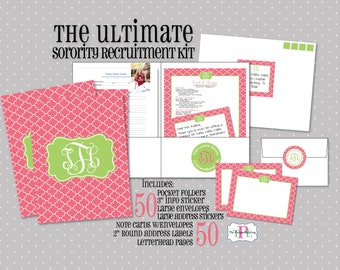 Ultimate Sorority Recruitment Recommendation Kit   Package Of 50   Sorority  Rush Package  Sorority Recruitment Resume