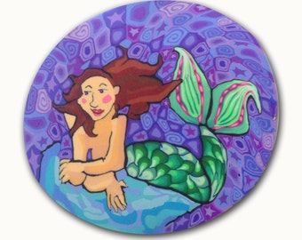 Queen of the Sea Mermaid-  Silly Milly Polymer clay cane large