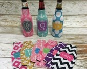 Personalized BOTTLE Koozie... Great Bridesmaids and Groomsmen Gifts
