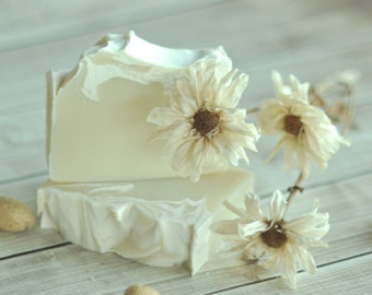 Almond Soap  -  Italian Honeymoon - Natural Soap -  Vegan Soap - Artisan Soap - Sustainable Palm Oil - Cold Process Soap  SHIPS 7/3/17